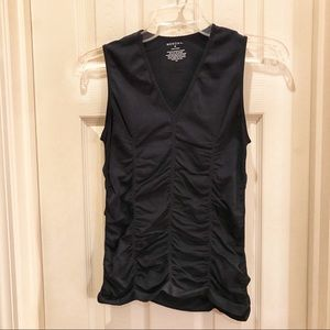 Merona medium black ruched dressy tank top